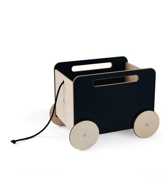 Ooh Noo - Toy Chest Wagon, Black (40TC1602 )