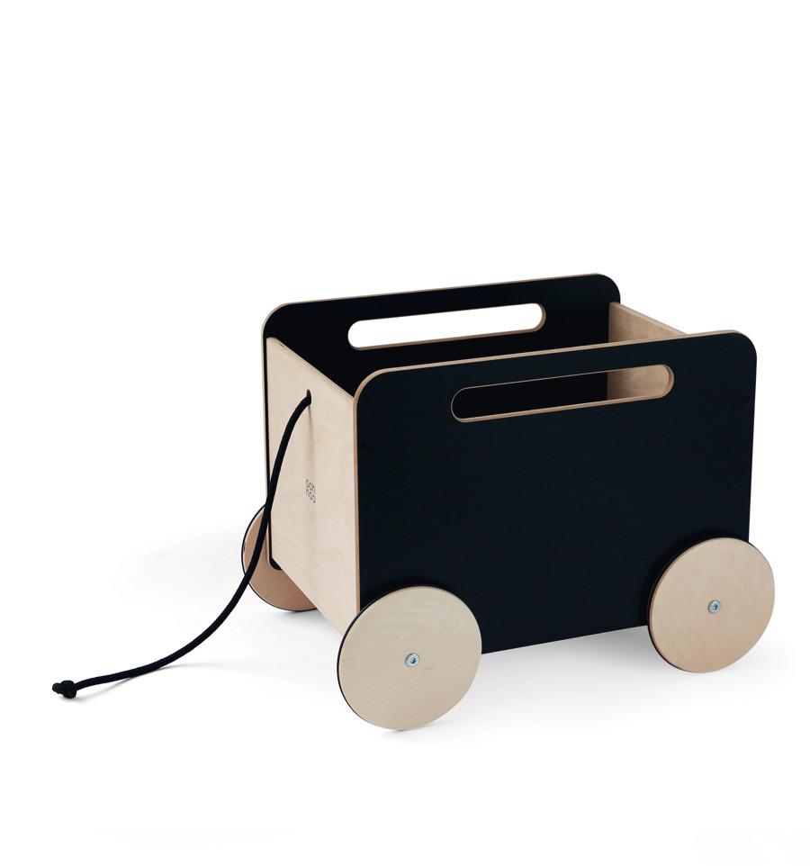 Billede af Ooh Noo - Trækvogn til legetøj, Black