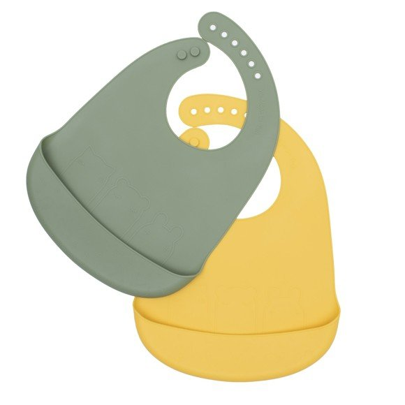 We Might Be Tiny - Catchie Bib 2 pack, Sage and Yellow (28TICB05)