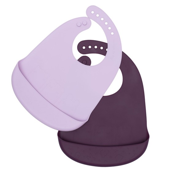 We Might Be Tiny - Catchie Bib 2 pack, Plum and lilac (28TICB06)