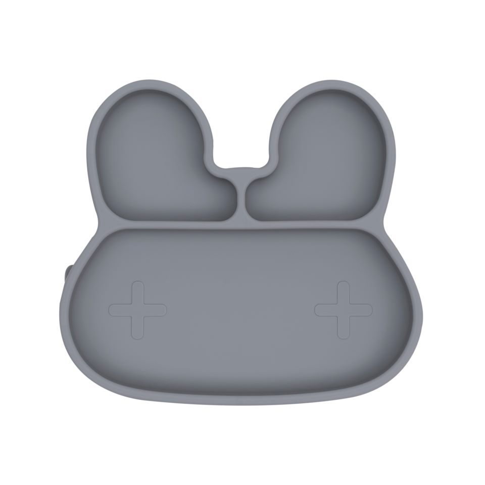 We Might Be Tiny - Bunny Stickie Plate, Grey (28TIBP02)