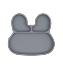 We Might Be Tiny - Bunny Stickie Plate, Grey (28TIBP02)