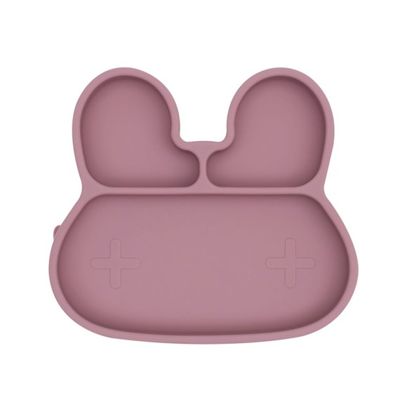 We Might Be Tiny - Bunny Stickie Plate, Dusty rose (28TIBP03)