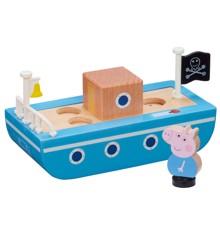 Gurli Gris - Båd i Træ med Figur