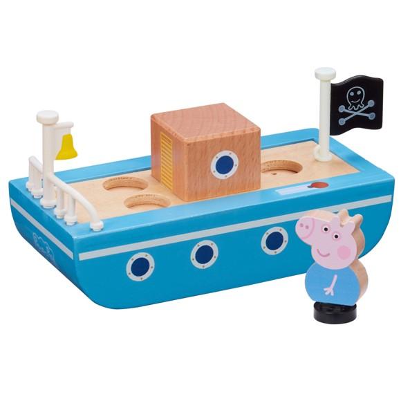 Peppa Pig - Wooden Boat w. Figure (20-00110)