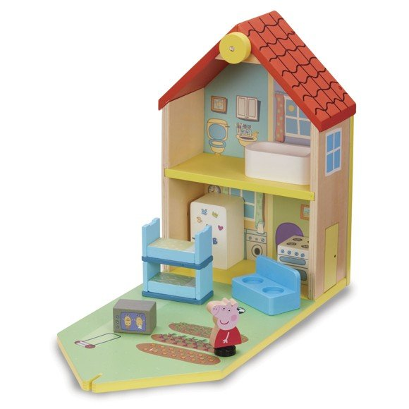 Peppa Pig - Wooden Dollhouse w. Figure and Furniture (20-00114)
