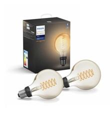 Philips Hue - 2x E27 Filament G93 - White - Bluetooth - Bundle