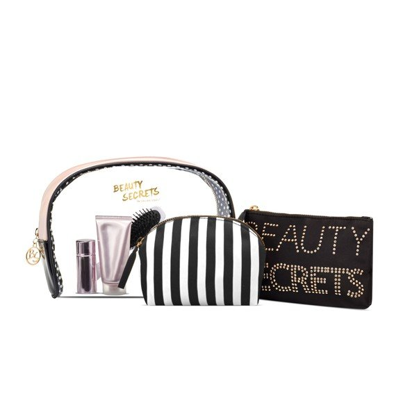 Gillian Jones - Secrets 3 Pieces Toiletry Set - Stribes Black & White