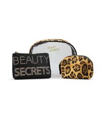 Gillian Jones - Secrets 3 Pieces Toiletry Set - Leopard Print