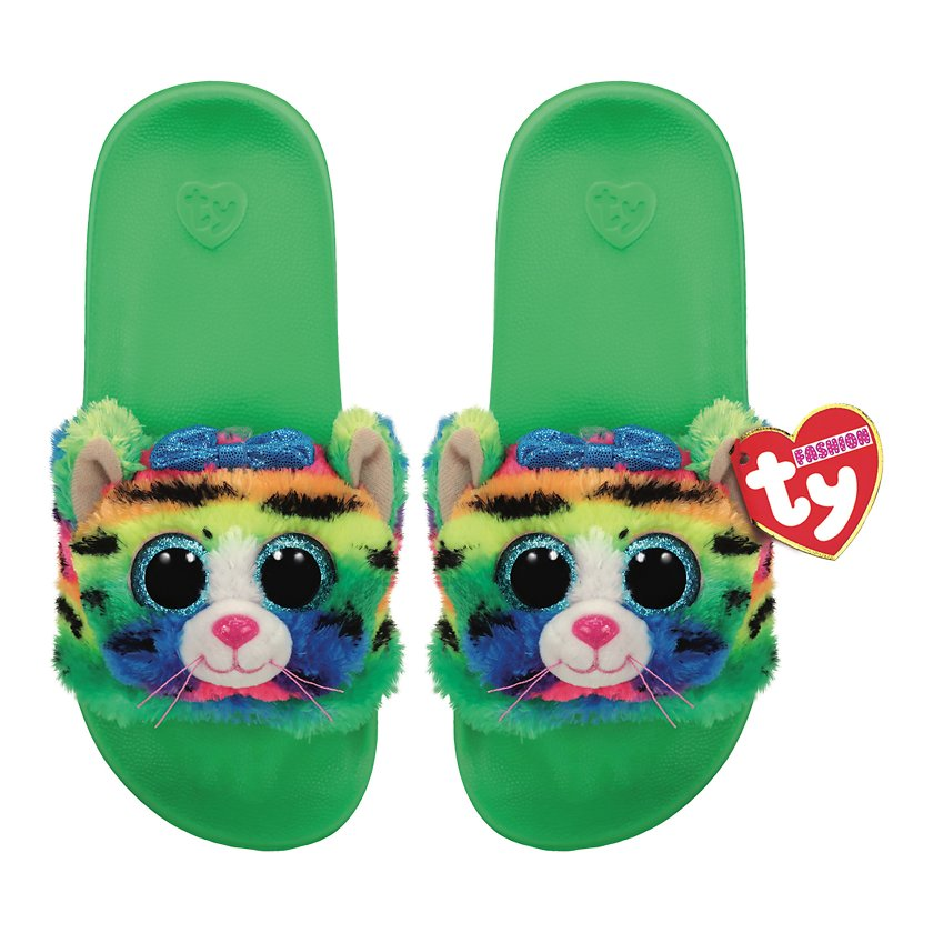 Ty Plush - Slides - Tigerly the Tiger (Size: 36-38) (TY95472)