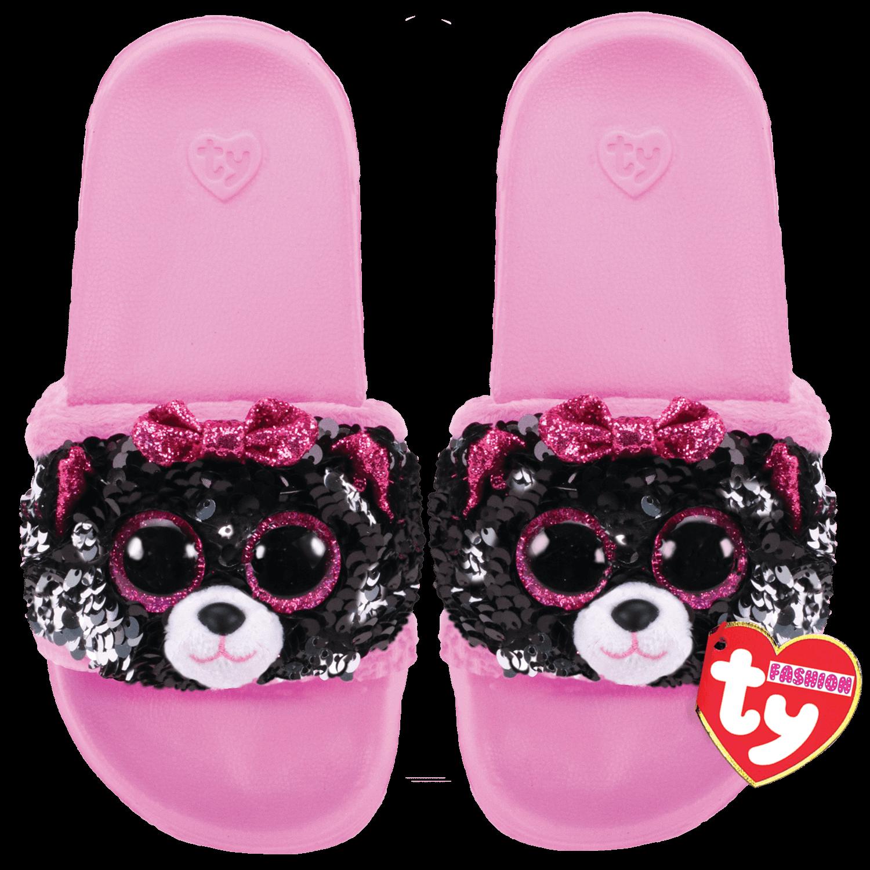 Ty Plush - Sequin Slides - Kiki the Cat (Size: 28-31) (TY95600)