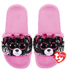 Ty Plush - Sequin Slides - Kiki the Cat (Size: 28-31) (TY95600)