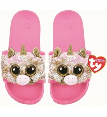 Ty Plush - Sequin Slides - Fantasia the Unicorn (Size: 36-38) (TY95661)