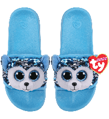 Ty Plush - Sequin Slides - Slush the Husky (Size: 36-38) (TY95662)