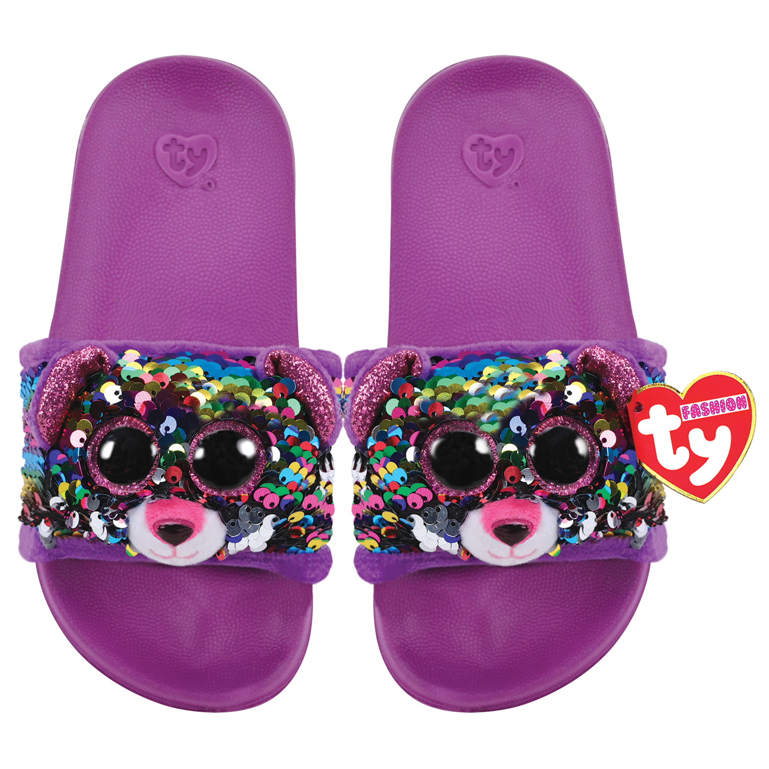 Ty Plush - Sequin Slides - Dotty the Leopard (Size: 28-31) (TY95604)
