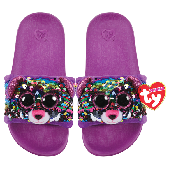 Ty Plush - Sequin Slides - Dotty the Leopard (Size: 32-34) (TY95634)