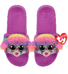Ty Plush - Sequin Slides - Rainbow the Poodle (Size: 32-34) (TY95635)
