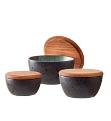 Bitz - Bowl Set With Lid 3 pcs - Black/Green (12487)
