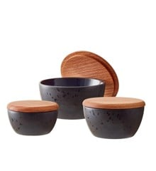 Bitz - Bowl Set With Lid 3 pcs - Black/Blue (12486)