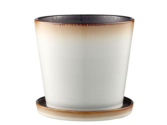 Bitz - Flowerpot Medium - Cream/Black (11244)