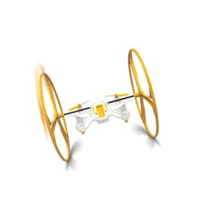 4 in 1 Skywalker Drone - 2.4 GHz 6 Axis 4 Channels - Orange (465658)