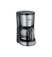 Severin - Kaffemaskine Med Timer KA 4192 1000 watt - Sort/Stål