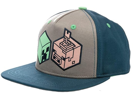 Minecraft Earth Creeper and Pig Head Youth Snapback Cap