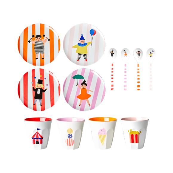 Rice - Kids Melamine Set in Giftbox - Circus Print