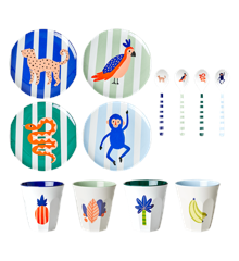 Rice - Kids Melamine Set in Giftbox - Jungle Print