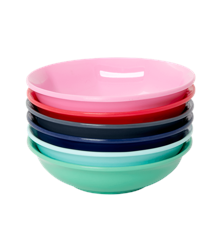 Rice - Melamine Flat Dipping Bowl 6 pcs. Giftbox - Believe in Red Lipstick