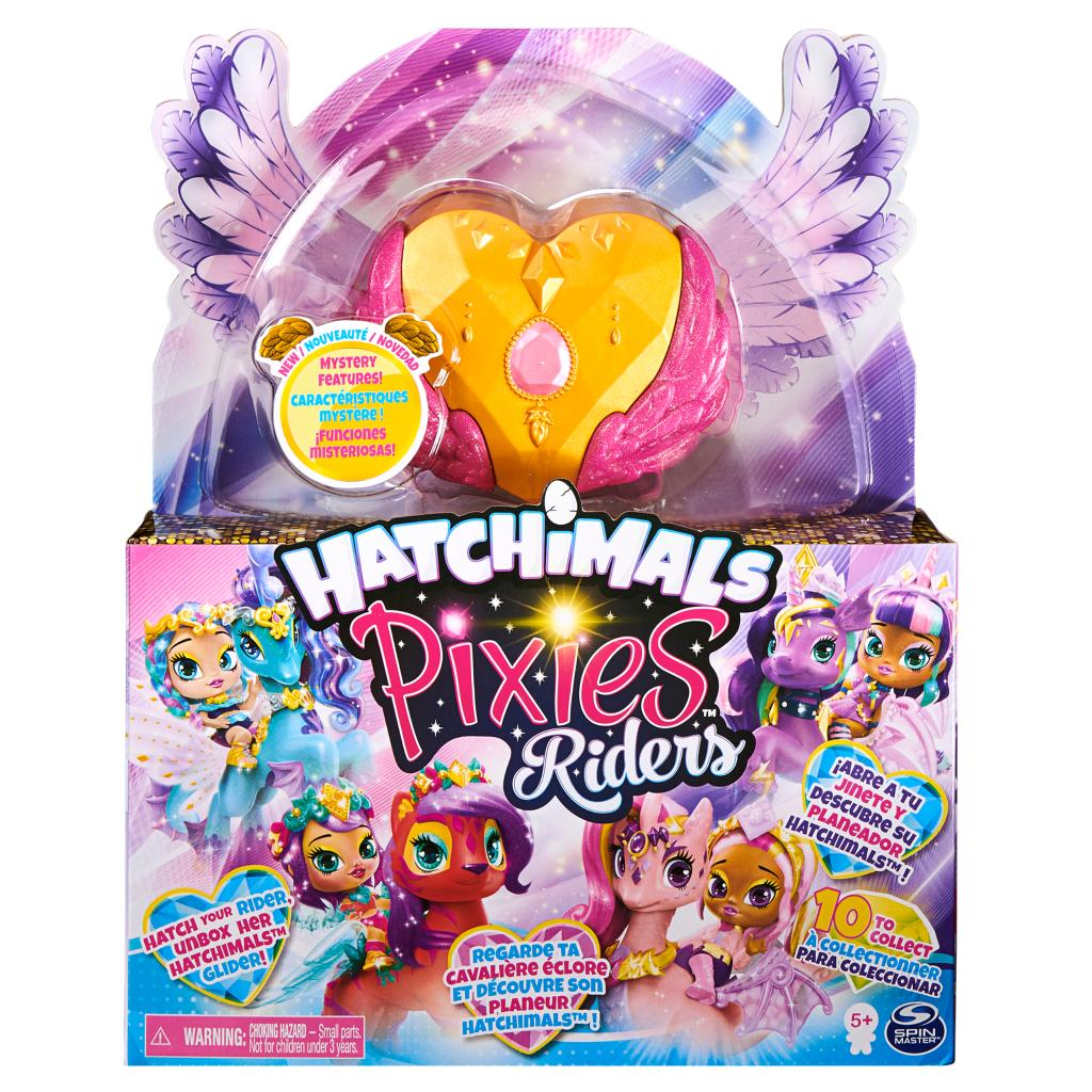 Hatchimals - Pixies Riders - Gold Shimmer Charlotte Pixie & Draggle Glider