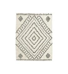 House Doctor - Nubia Tæppe 210 x 160 cm - Hvid/Cream