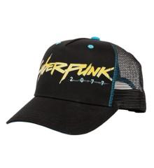 Cyberpunk 2077 Cyberpunker Trucker Hat (Black/Blue)