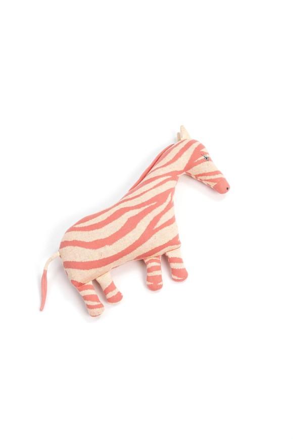 Smallstuff - Cushion Toy Animal - Bubblegum Zebra
