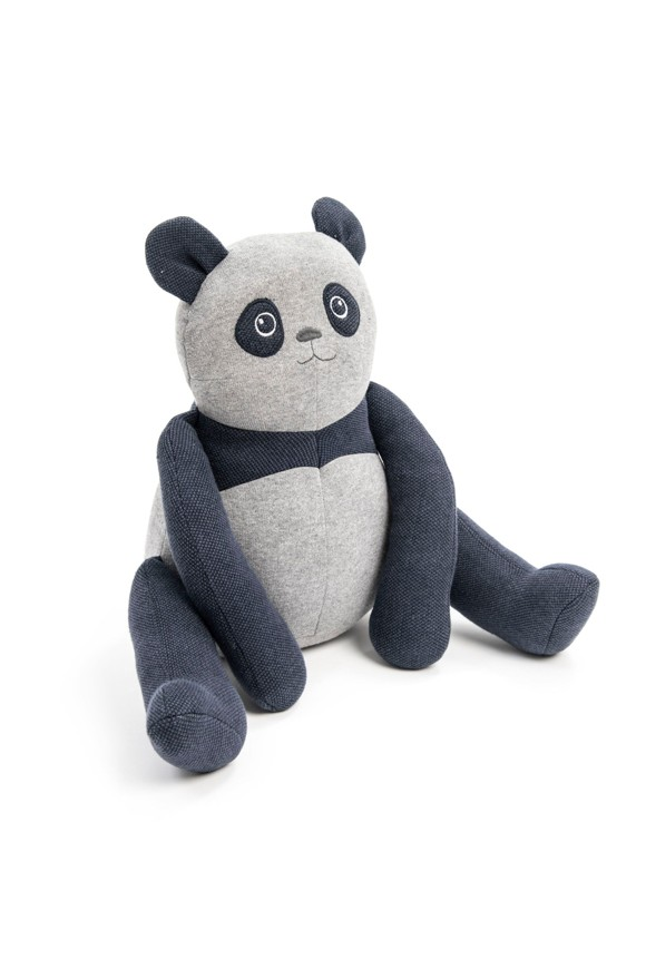 Smallstuff - Head Rests Toy Sitting Cushion - Denim Panda