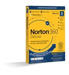 NortonLifeLock – Norton 360 Deluxe 1 bruger 5 enheder 12 måneder
