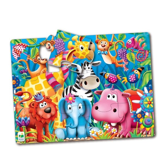 The Learning Journey - My First Big Floor Puzzle - Jungle Friends (12 pcs) (106501)