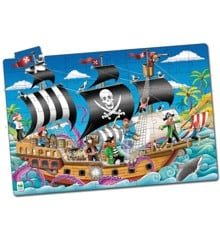 The Learning Journey - Puzzle Doubles - Pirate Ship Glow in The Dark (100 pcs.) (113851)