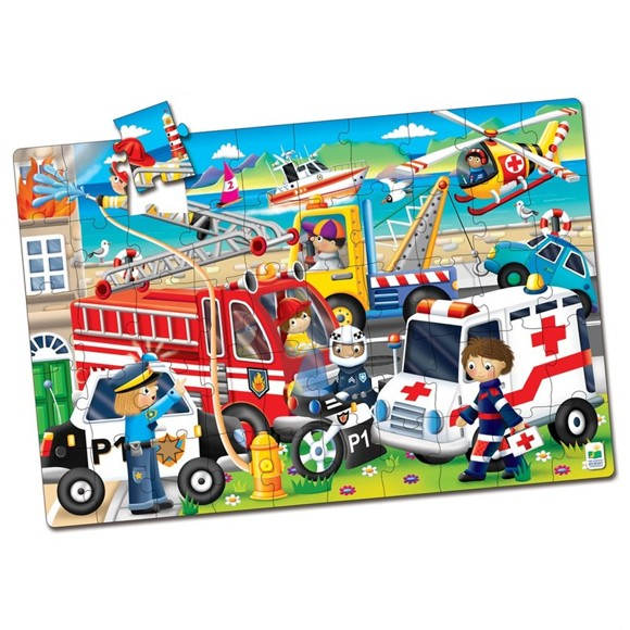The Learning Journey - Jumbo Floor Puzzles - Emergency Rescue (50 pcs.) (321959)