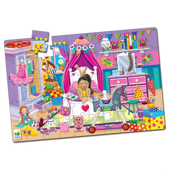 The Learning Journey - Jumbo Floor Puzzles - In My Room (50 pcs) (436233)