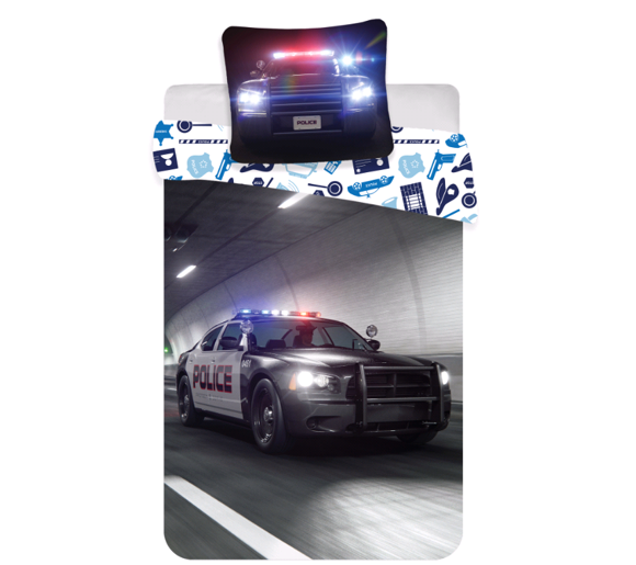 Bed Linen - Adult Size 140 x 200 cm - Police (1000361)