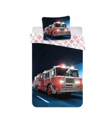 Bed Linen - Adult Size 140 x 200 cm - Firetruck (1000365)