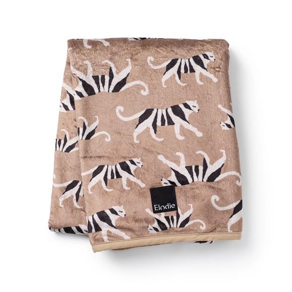Elodie Details - Fløjlstæppe - White Tiger Warm Sand