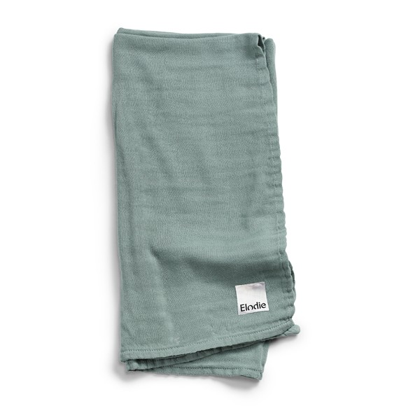 Elodie Details - Bamboo Muslin Blanket - Mineral Green