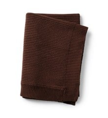 Elodie Details - Wool Knitted Blanket - Chocolate