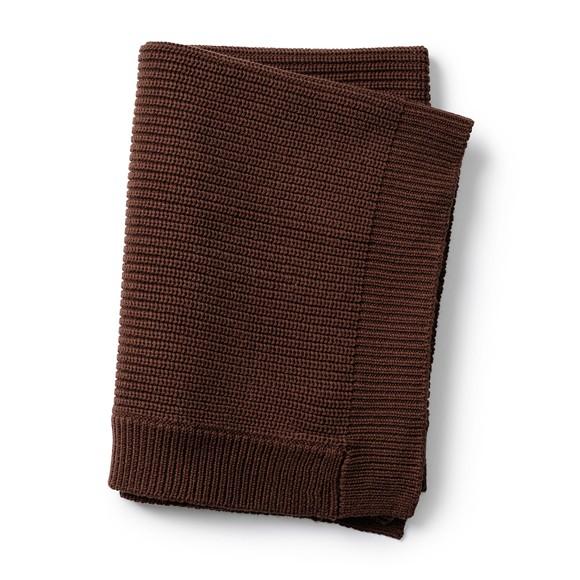 Elodie Details - Wool Knitted Blanket - Chocolate