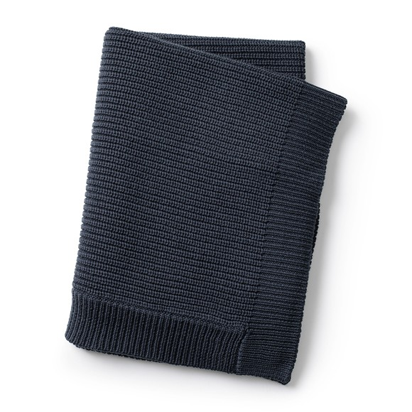 Elodie Details - Uldstrikket Tæppe - Juniper Blue