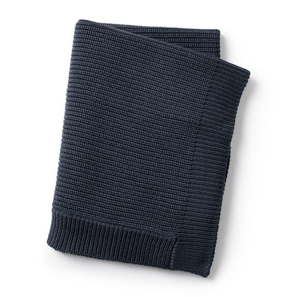 Elodie Details - Wool Knitted Blanket - Juniper Blue