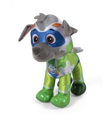 Paw Patrol - Mighty Pups Bamse 37 cm - Rubble