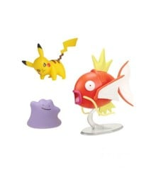 Pokemon - Battle Figure Set 3 pack - Magikarp, Ditto og Pikachu